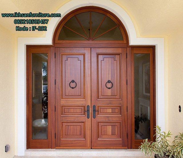 Model Pintu Rumah Terbaru Kayu Jati Desain Model Pintu