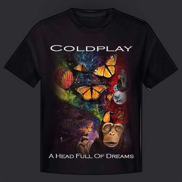 4e46dc7f7 Coldplay t shirt design for a head full of dreams tour | My own art ...