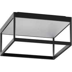 Photo of Serien Lighting Reflex² 150 Triac ceiling light, 3000K, housing black, glass structured silver Se
