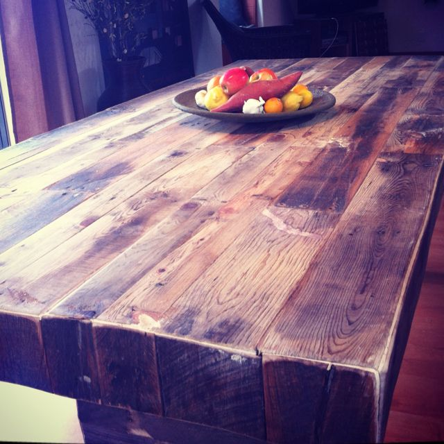 8\' x 4\' farmer\'s table 100% reclaimed pallet wood. Made with love by ...