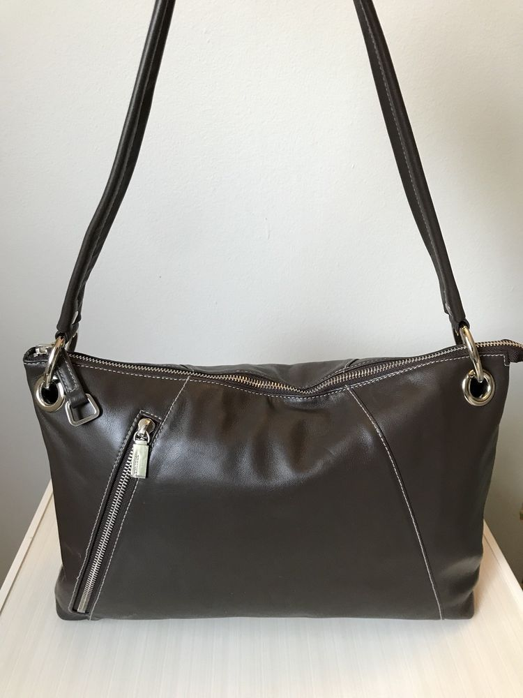 d805b35910 perlina leather handbag Brown  fashion  clothing  shoes  accessories   womensbagshandbags (ebay link)