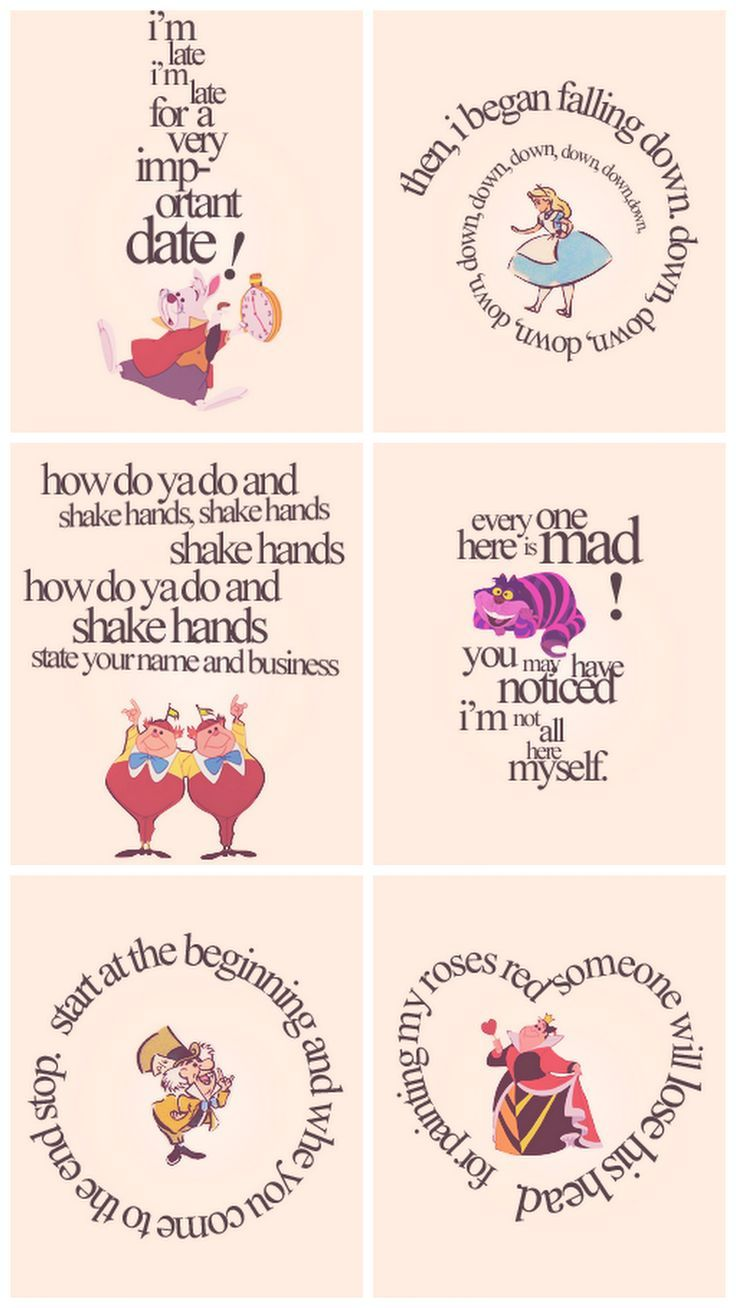 Quotes From Alice In Wonderland Can Put These In Cheap Ikea Frames For Decoration  Disney
