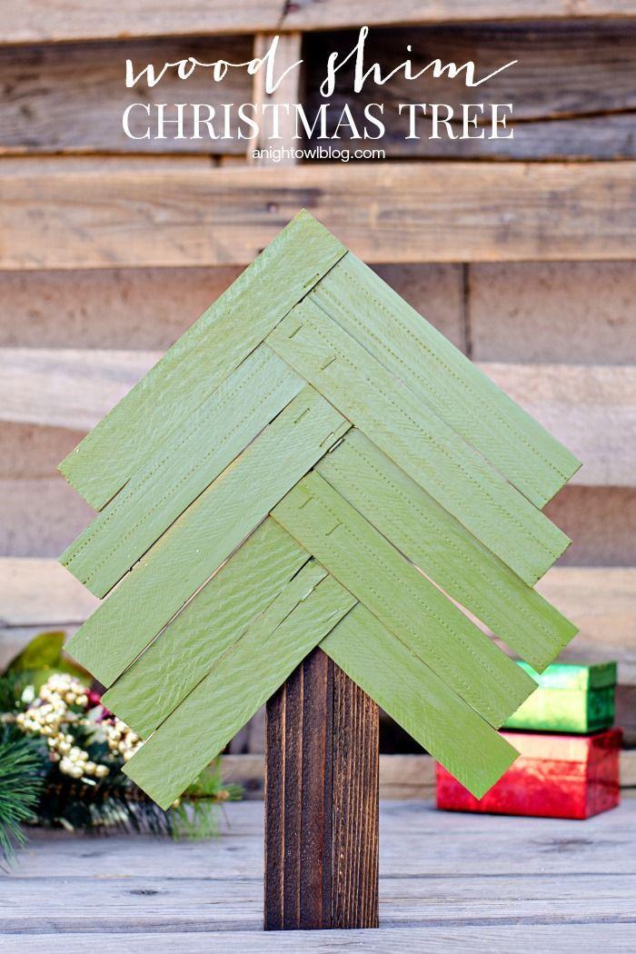 Christmas Crafts Wood Shim Tree
