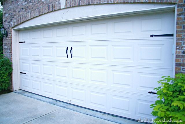 Thriftydecorchick Com Add Ons To Garage Door Door Makeover Diy