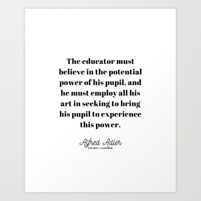 10 |Alfred Adler Quotes | 210106 | Psychology Inferiority Complex Personal Development Art Print by Wordz