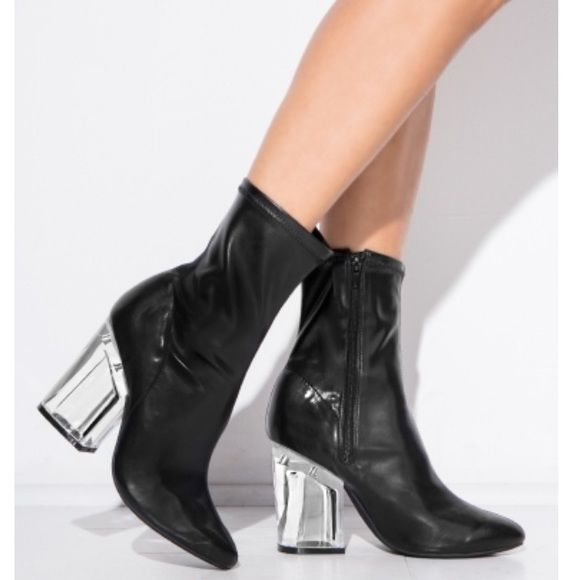 tight ankle heel boots