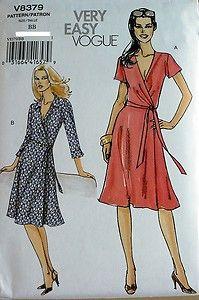 54c5b2ff5f Vogue v8379 misses diane von furstenberg style wrap dress sewing ...