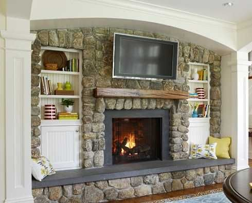 like having a seat w/room for pillows Fireplace Ideas Pinterest