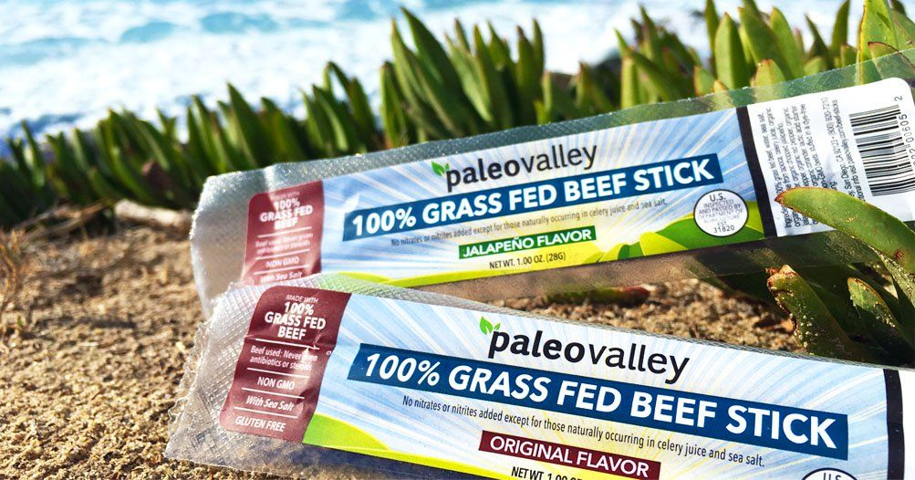 Paleovalley 100 Grass Fed Beef Sticks 30 Off Beef Sticks Grass Fed Beef How To Dry Basil