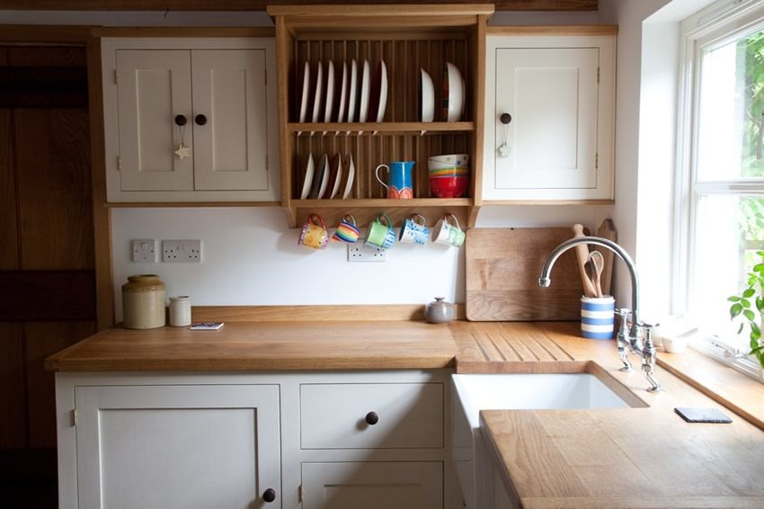 Painting Your Kitchen Cabinets Is No Small Undertaking: Painted Shaker Style Kitchen