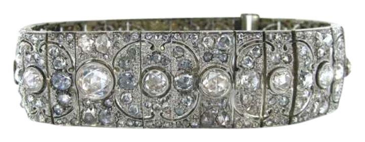PLATINUM MULTIPLE DIAMOND BRACELET ART DECO ANTIQUE VINTAGE FINE JEWELRY LUXURY