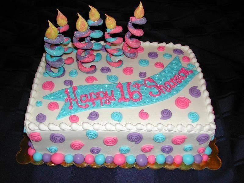 Easy Girl Birthday Cake Ideas Whimsical Sixteenth