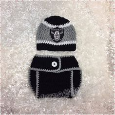 9d3bd3255f5 Crochet Baby Oakland Raiders Diaper Cover Set Baby Football Newborn Baby  Baby Boy Girl Newborn Photo prop Baby Shower Gift MADE TO ORDER by  JAMMYCRAFFTS29 ...