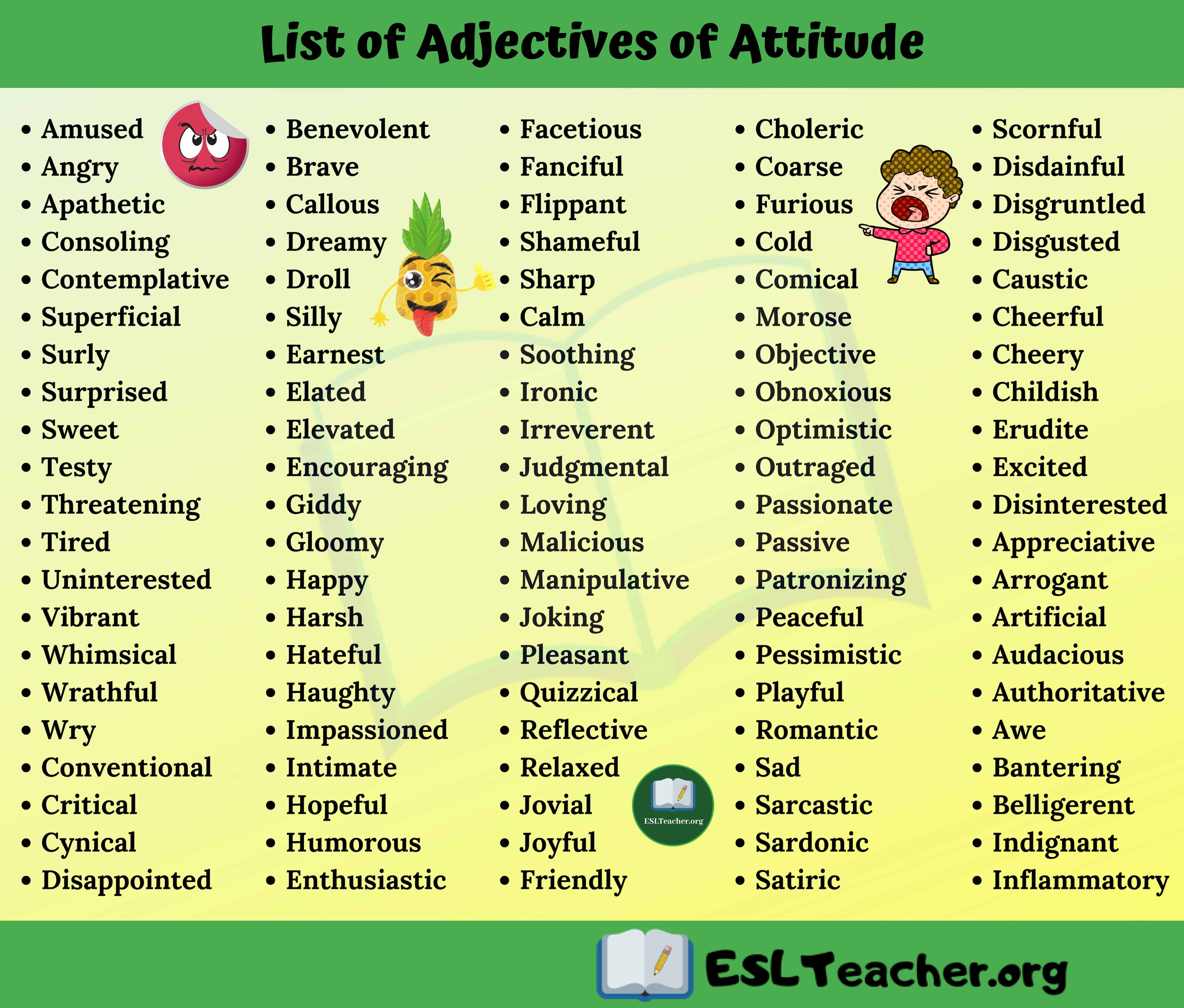 Base And Strong Adjectives List