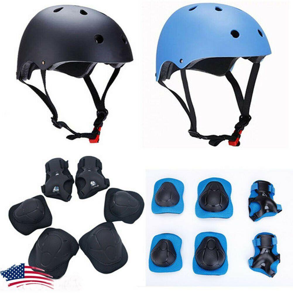 Details About For Kids Skateboard Helmet Protective Gear Set For