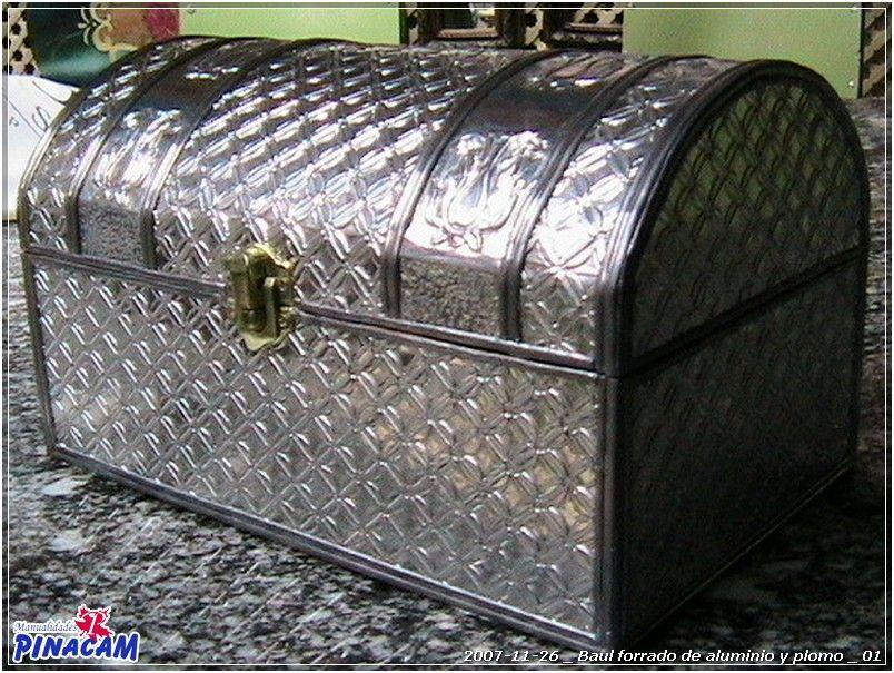 Ba l forrado con aluminio repujado y plomo realizado por for Manualidades con estano