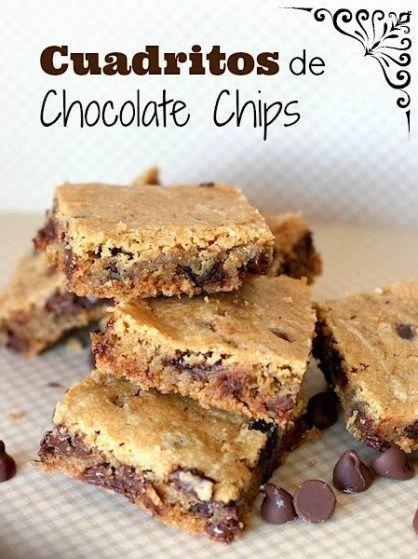 Cuadritos de Chocolate Chips