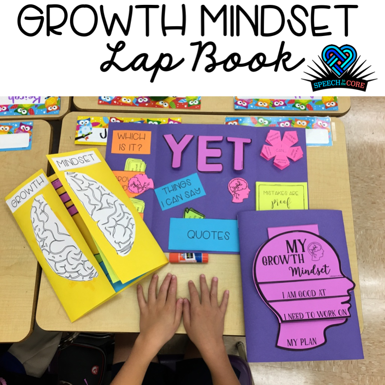 Growth Mindset Lap Book