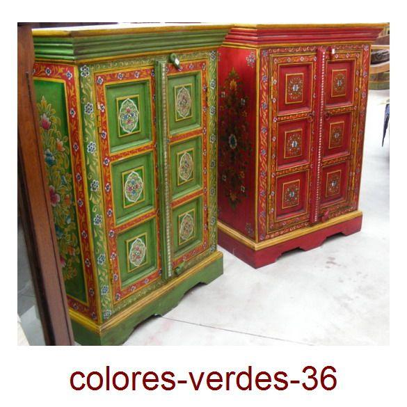 Muebles pintados a mano artesan a de la india cat logo - Muebles estilo indio ...