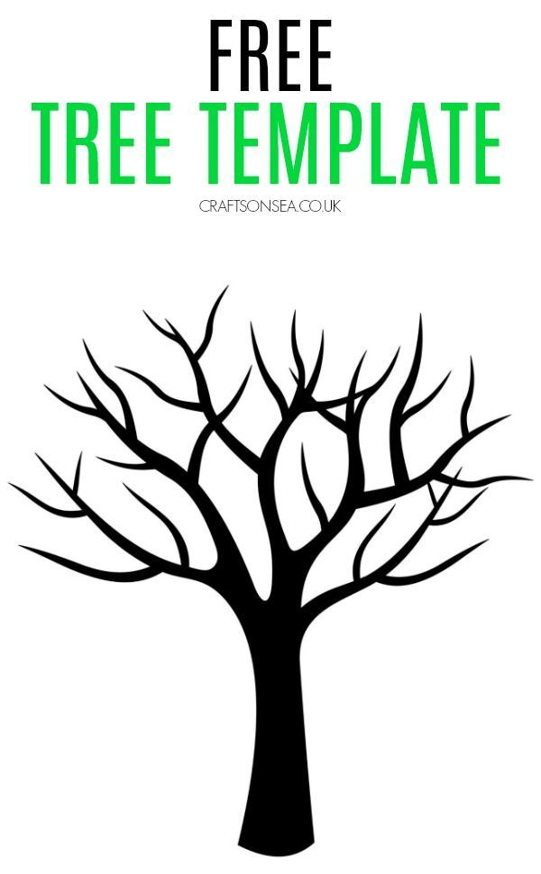Free Tree Template #thanksgivingcrafts