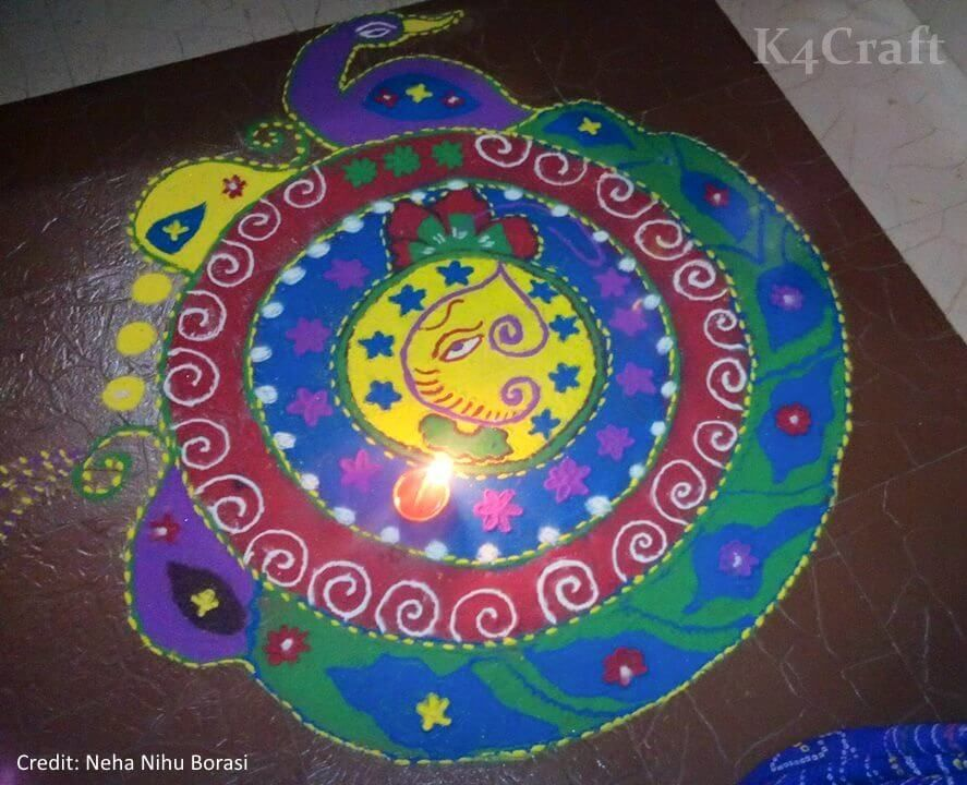 25 Latest Ganesh Chaturthi Rangoli Designs For 2018 K4 Craft