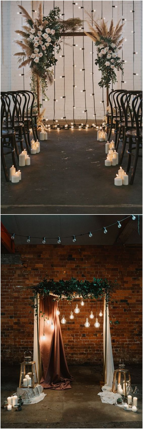 20 Industrial Loft-style Wedding Ceremony Backdrop Ideas
