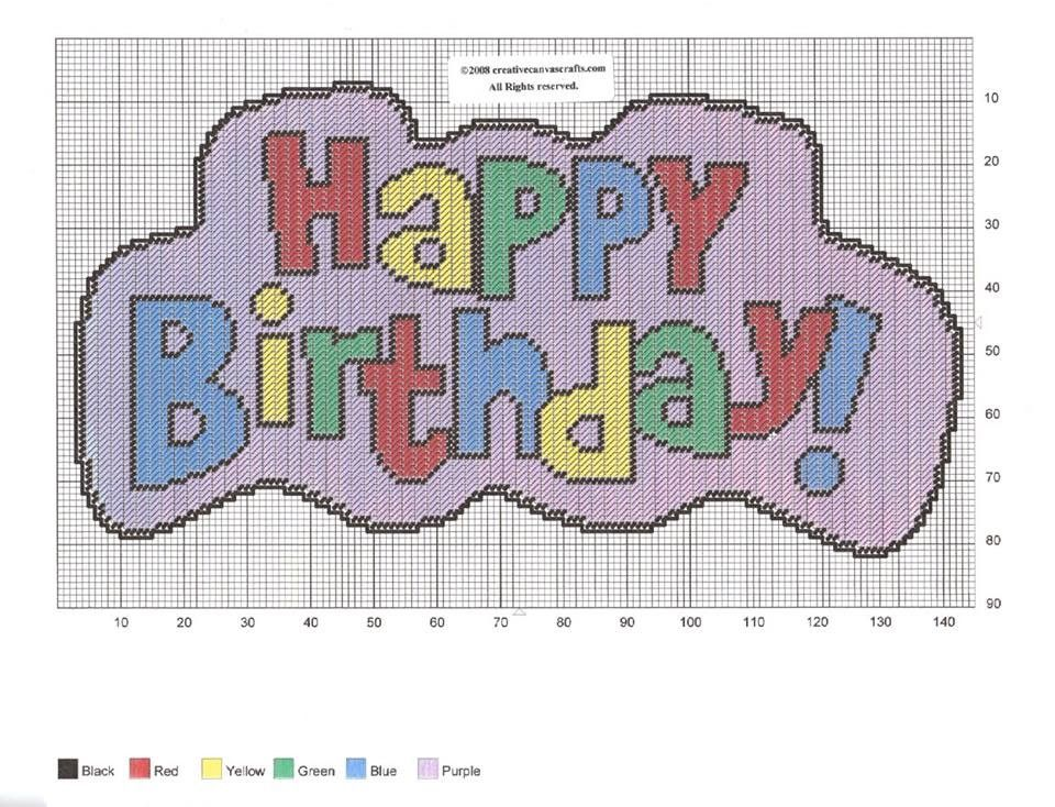 HAPPY BIRTHDAY WALL HANGING by CREATIVECANVASCRAFTS.COM 2/2