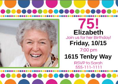75th birthday invitations - Customized Party Invitations