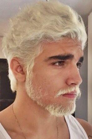 Men S Bleached Hair And Beard White Hair Men Bleached Hair Men