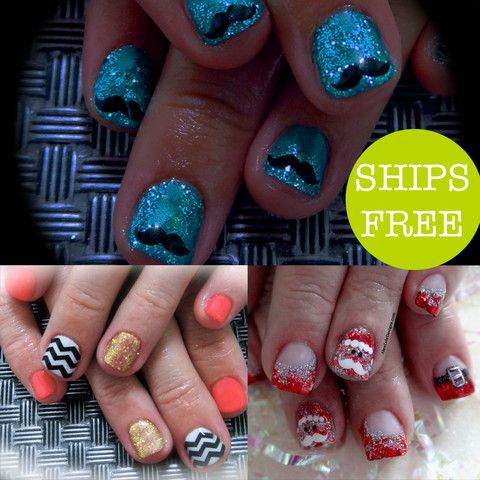 3 sheets of trendy nail art stickers, you choose!