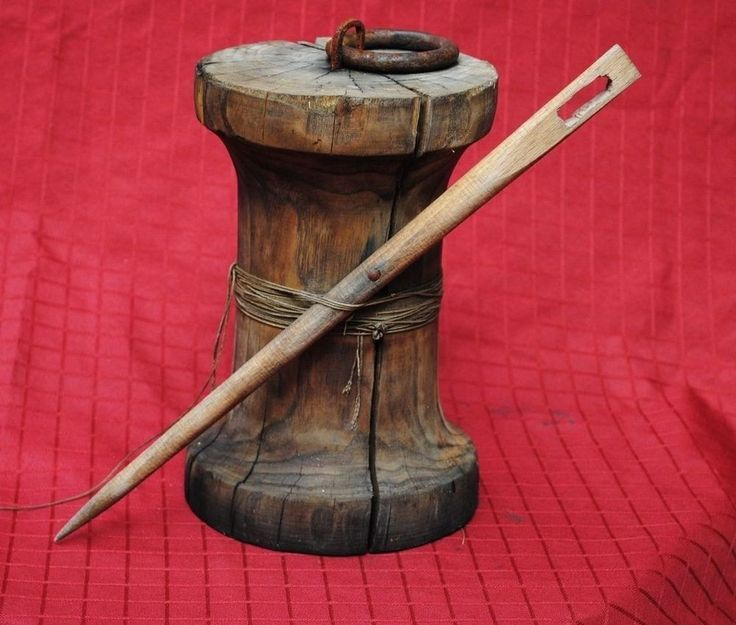 Ancient Sewing Needle And Thread Bobbin Wooden Cool Stuff