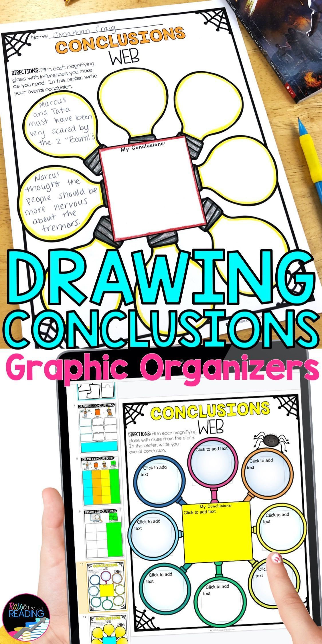 Drawing Conclusions Worksheets Paper Digital Reading Graphic Organizers Graphic Organizers Reading Graphic Organizers Drawing Conclusions [ 2249 x 1125 Pixel ]