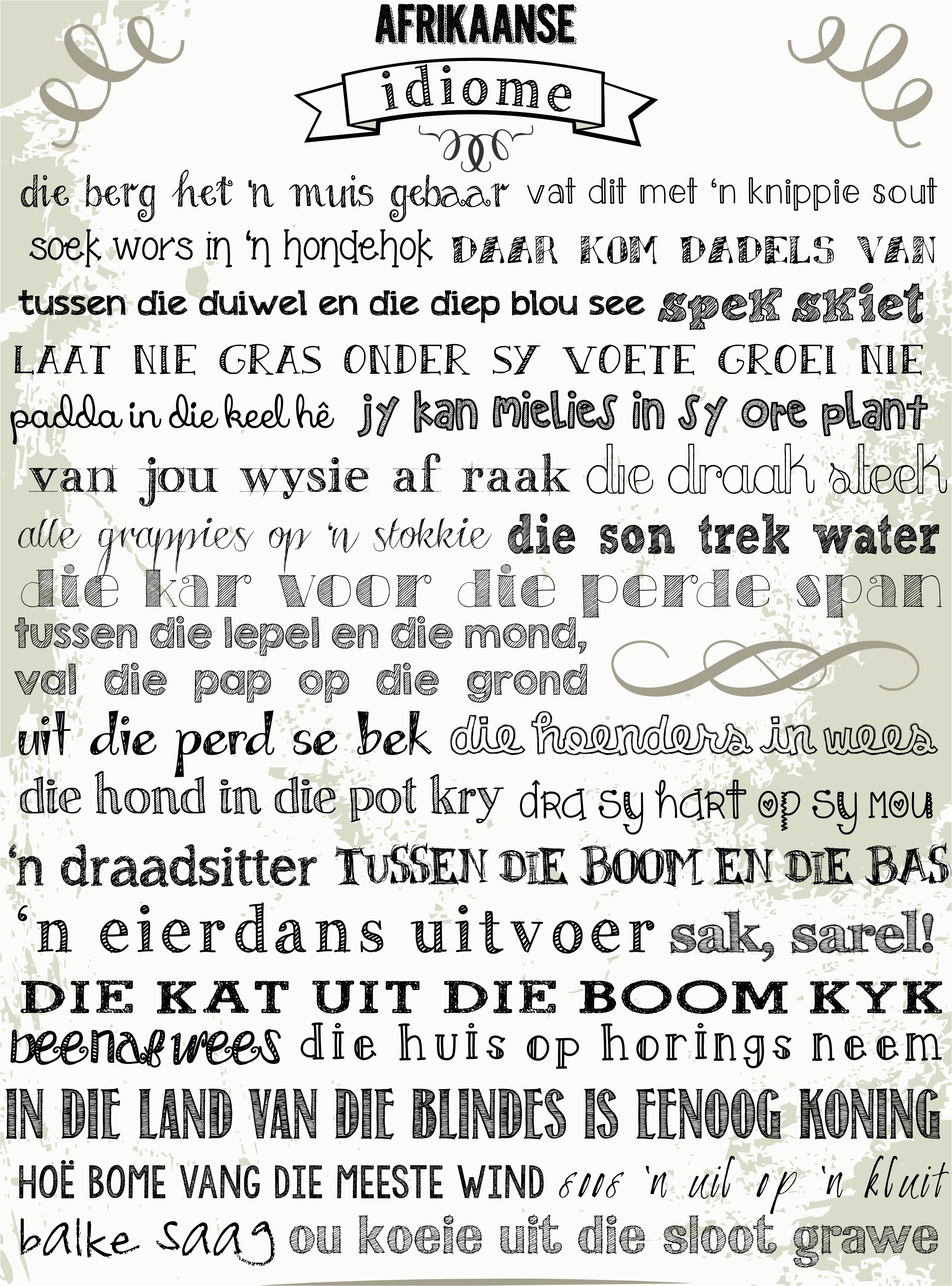 Afrikaans Idiome