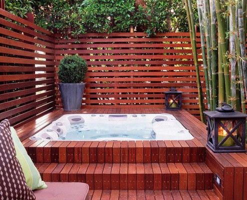 Merveilleux 47 Irresistible Hot Tub Spa Designs For Your Backyard