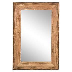 16x24in Distressed Pine Wood Framed Wall Mirror Bathroom Mirrors