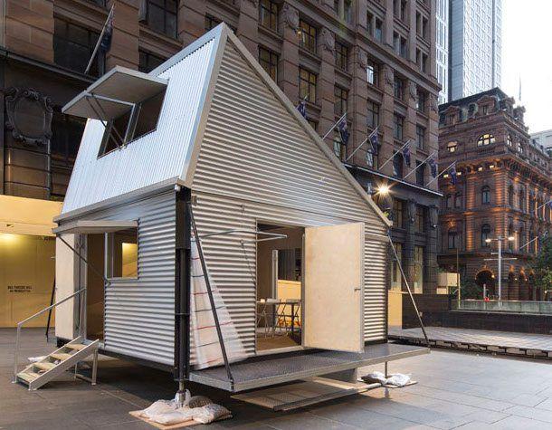 Grid refugio hecho con un kit prefabricado peque a - Construccion casas de madera ...