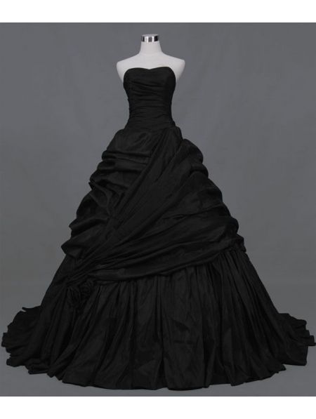 Black Ball Gown Gothic Wedding Dress - Devilnight.co.uk | ever.after ...