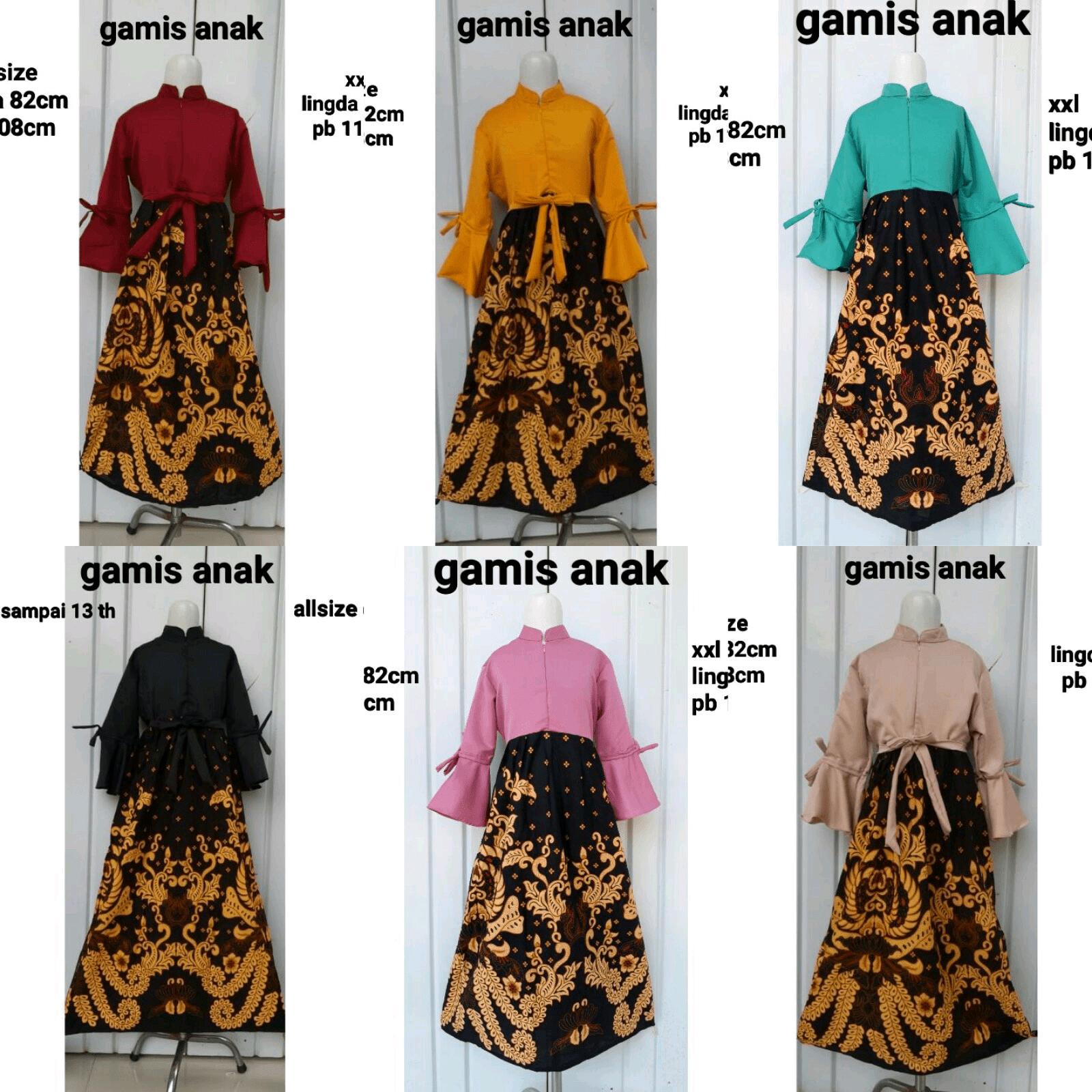 Baju Gamis Model Gamis Batik Anak Perempuan  Anak perempuan
