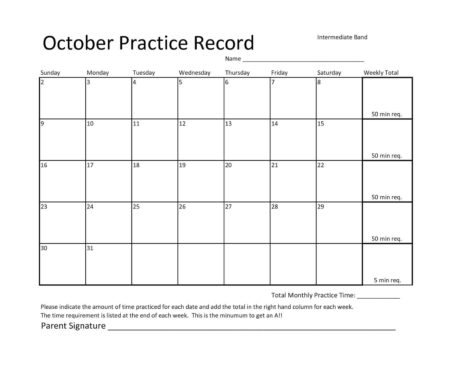 Joyful Noise : Practice records vs. Assignment sheets Oh practi ...