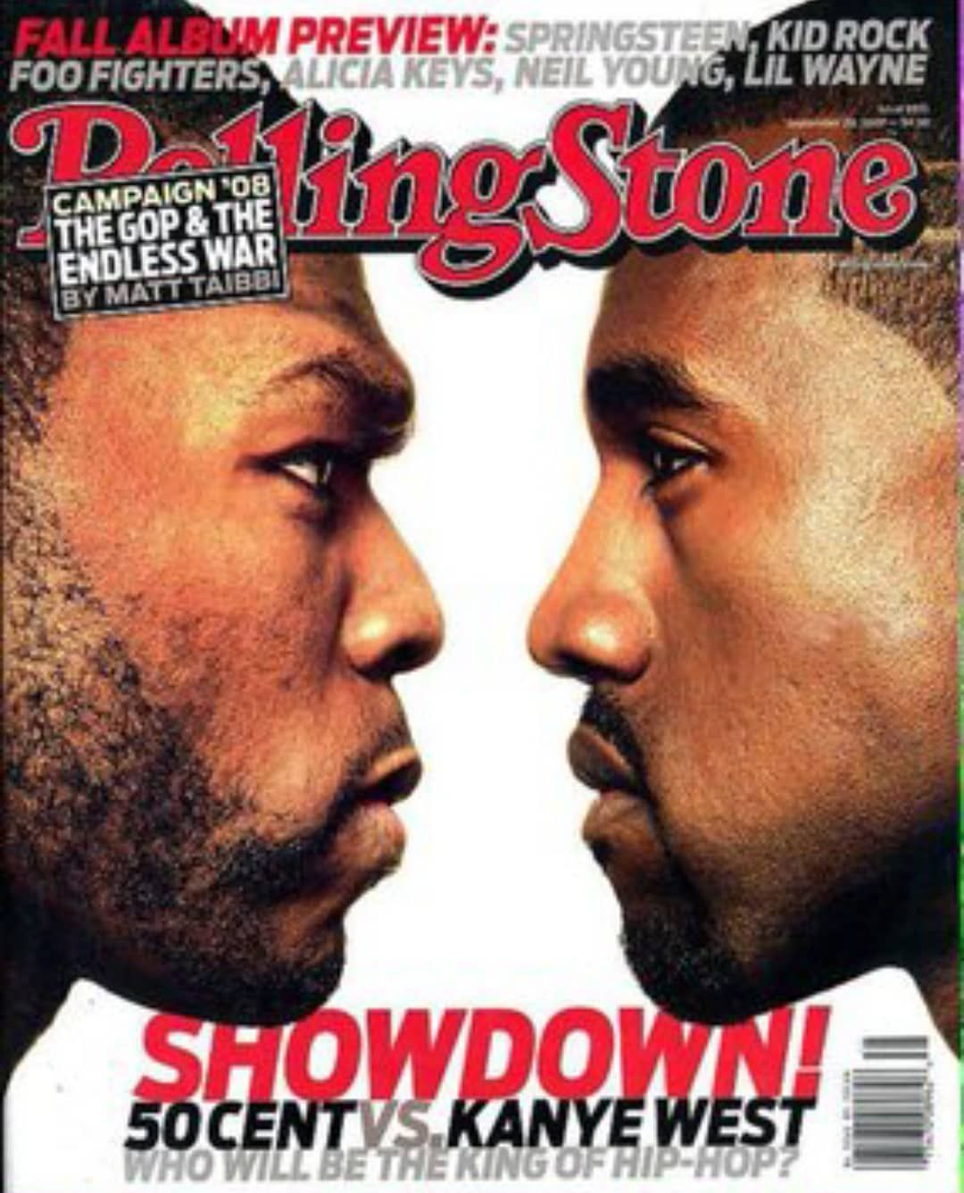 12 Years Ago Today The Highly Anticipated Kanye Vs 50cent Album 1st Week Sales Showdown Went Rolling Stone Magazine Cover Rolling Stones Magazine Kanye West