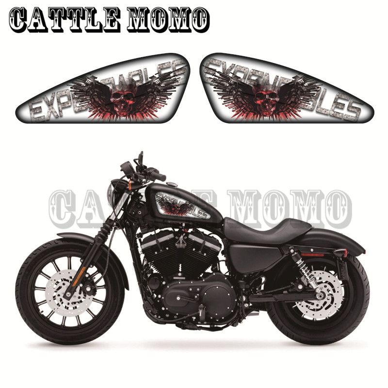 Skull Sticker Motorcycle Fuel Tank Decals Stickers For Sporters Xl 883 1200 X V R N L C Xr1200 48 72 Iron Expendables Graphics Affiliate
