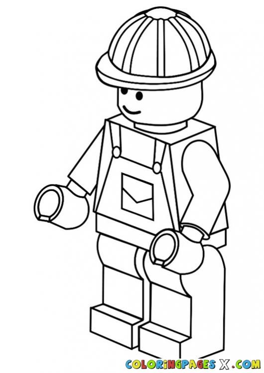 lego-man-coloring-page-197 | malebog | Pinterest | Lego men and Lego