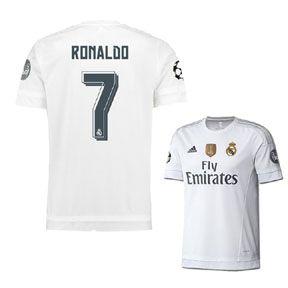 24758b6a6 adidas Real Madrid Ronaldo  7 UCL Soccer Jersey (Home 15 16 ...