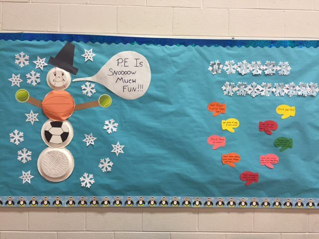 Pec Bulletin Boards For Physical Education Winter Snow Much Fun Pe