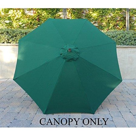 Formosa Covers 9ft Umbrella Replacement Canopy 8 Ribs In Huntercanopy Only