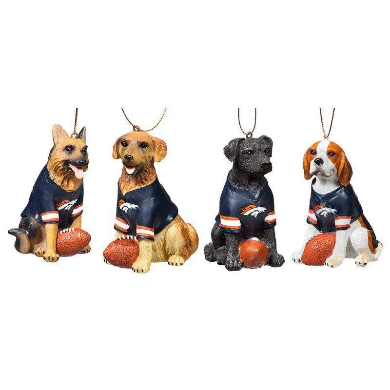 Bronco Dogs Dog Christmas Ornaments Dog Ornaments Christmas