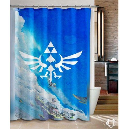 Legend Of Zelda Triforce The Gods Shower Curtain Unbranded Modern