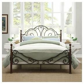 Sereno Metal Bed Full Bronze Cherry Inspire Q Iron Bed Frame Iron Bed Wrought Iron Beds