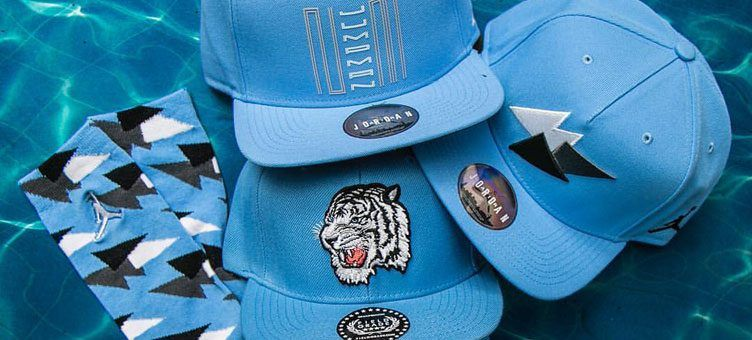 46f54101e95c68 Carolina Blue Accessories to Match Air Jordan 7 and 11 Sneakers at Jimmy  Jazz