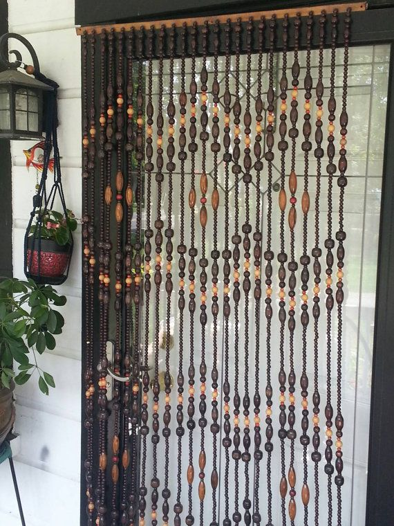 This Awesome Wooden Beaded Curtain Is Made Out Of Bamboo Wood
